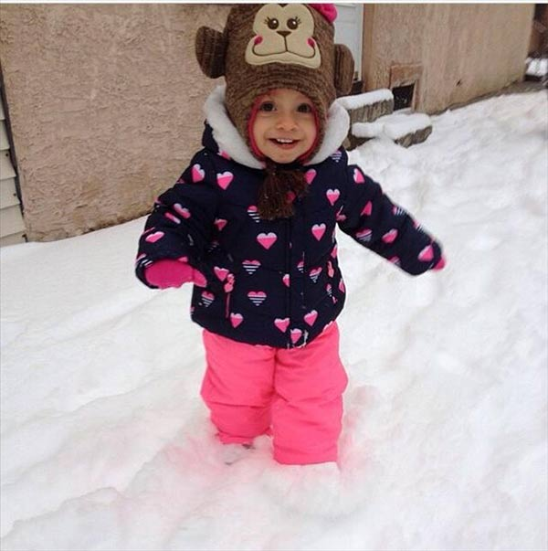 Little Savannah was out and about enjoying the wintry weather!