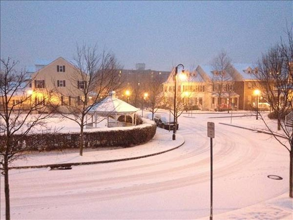 Patrick O'Connell snapped this snowy photo in Doylestown, Pa.