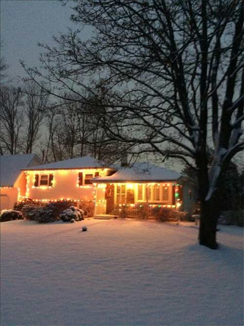 An Action News viewer captured Christmas lights shining bright in the snow!