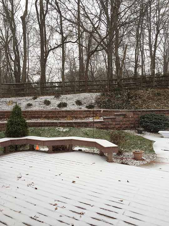Viewer Photo: Snowing in Garnet Valley