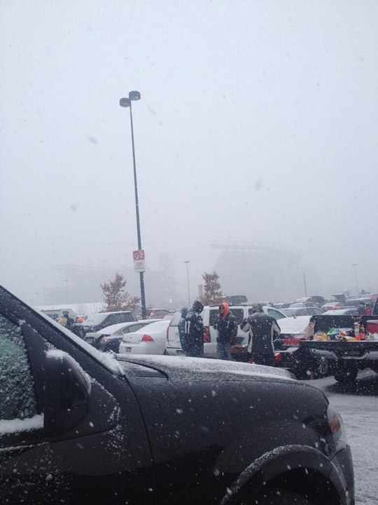 Photo from viewer Nikki at the Eagles game in South Philadelphia