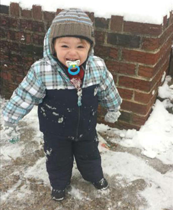 "<div class=""meta ""><span class=""caption-text "">Cayden's first snowfall in Philadelphia. (submitted photo)</span></div>"