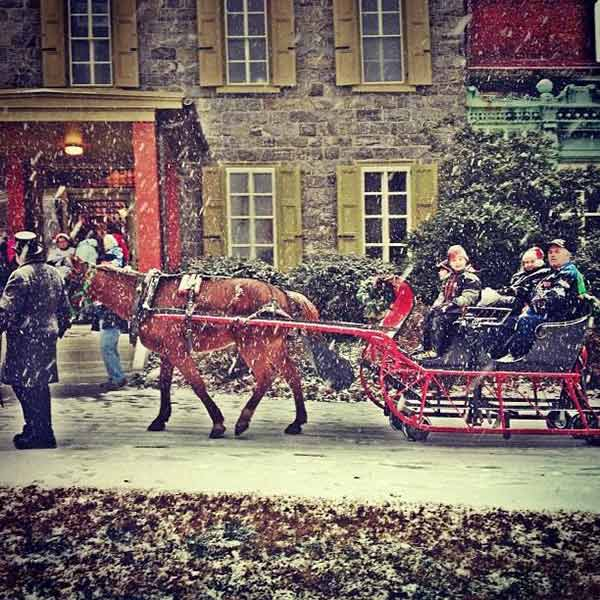 Sleigh Ride at the Get Well Gabby Foundation Old Fashioned Christmas at Oakbourne Mansion in West Chester, PA (submitted photo)