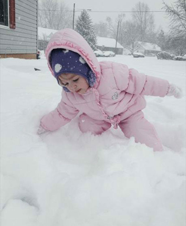 Addison Sophia Young was out in the snow in Ridley Park.    (submitted photo)