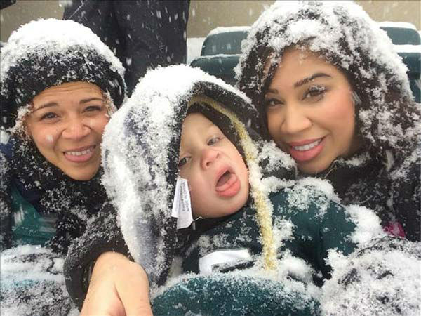 Christian was at the snowy Eagles game with his mom and grandma! (submitted photo)