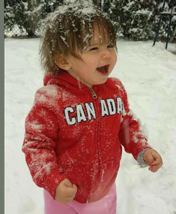 Aaliyah loved every minute of her first time in the snow! (submitted photo)