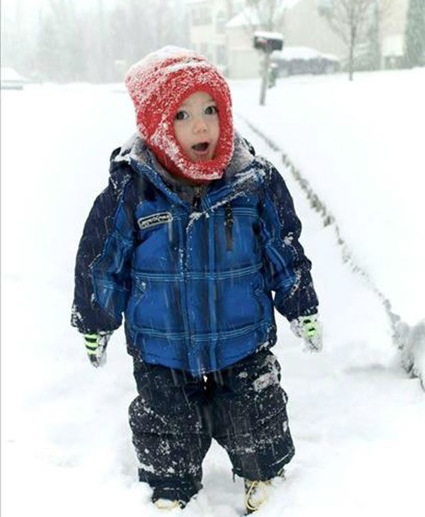 Here is Evan all bundled up for some fun in the snow (submitted photo)