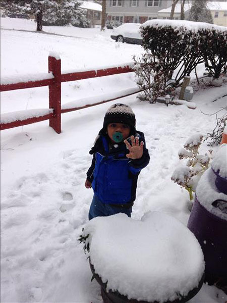 Khalen's First Snow-Willingboro NJ