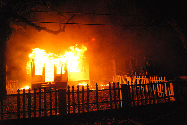 Crews battled a fire in Elsmere, Delaware on December 22, 2013.