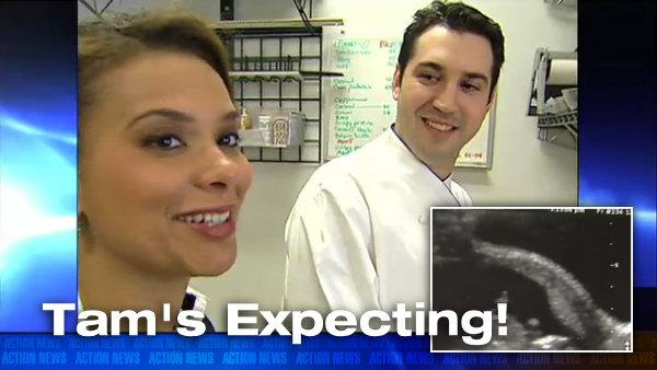VIDEO: Surprise! Tam's expecting...