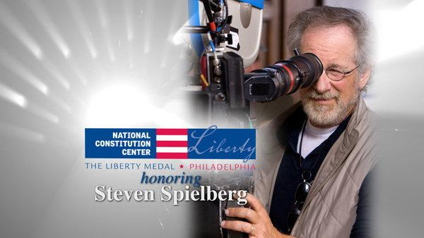 Steven Spielberg is the recipient of Philadelphia's 2009 Liberty Medal