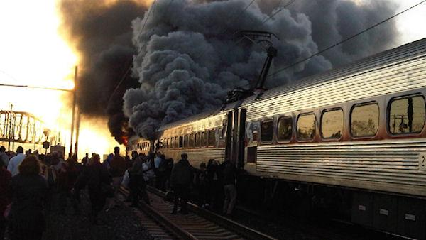 SEPTA train fire