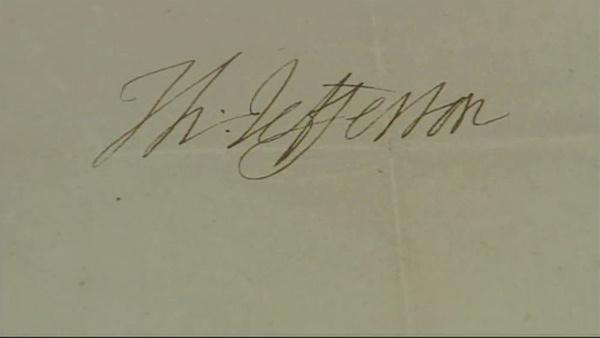 Del. students find letter from Thomas Jefferson