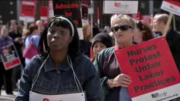 Nurses at Temple Univ. Hospital go on strike