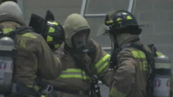 HAZMAT situation at Chester Co. fire