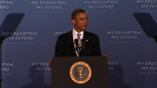 Pres. Obama delivers speech to nation's students