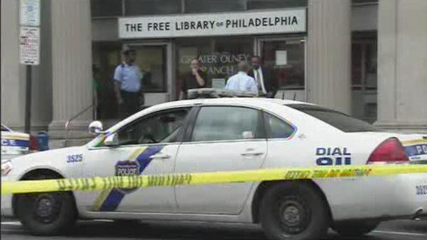 Man with knife shot by police in Olney library