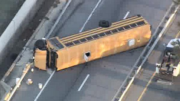 Dozens of students injured in school bus crash