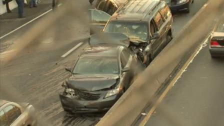The Action Cam on the scene of a multi-vehicle crash on the Roosevelt Boulevard on November 14, 2010.