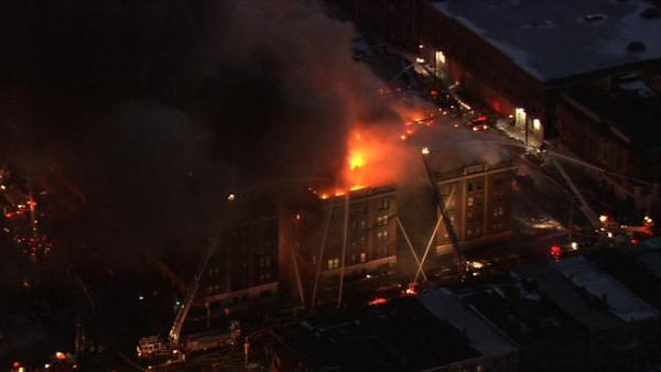 Apartment building fire in West Philadelphia
