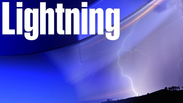 Lightning strikes mall, nursing home, TV station