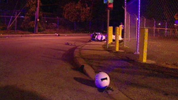 Man dead, son injured, in motorcycle accident in Delaware.