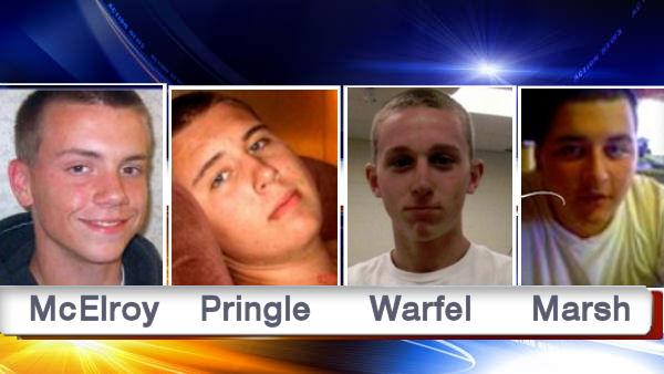 Collin McElroy, Evan Pringle, Jerry Warfel and Kyle Marsh