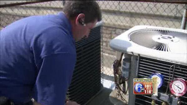 Repairmen keeping busy during the heat