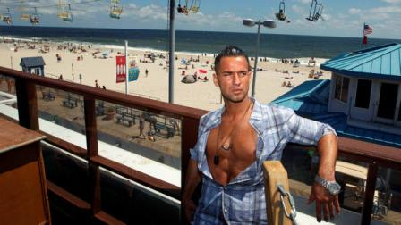 Mike The Situation Sorrentino, cast member of MTVs Jersey Shore stands on a deck overlooking the boardwalk and beach at the home for the show Thursday, Aug. 4, 2011, in Seaside Heights, N.J. The cast members had fun in Italy, but theyre glad to get back to their home facing the surf and sand of the real Jersey shore. The young partiers traveled to Florence, Italy, to film the fourth season, which premiers Thursday night.