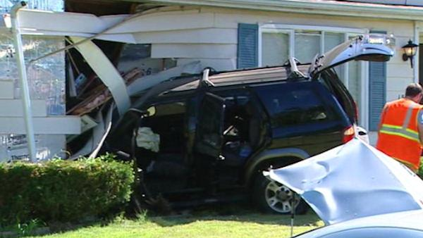 SUV slams into home in Carneys Point, New Jersey