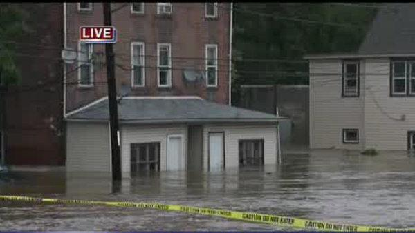 Hurricane Irene brings high waters to Darby