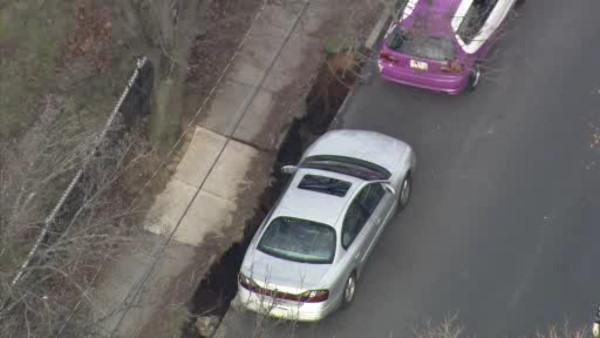 Sinkhole forces evacuations in Allentown, Pa.