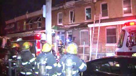 Fire in a vacant Philadelphia home sent residents in neighboring homes scrambling for safety.
