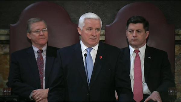Corbett unveils $27.1 B hold-the-line budget
