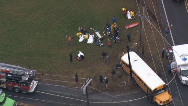 School bus crash in Burlington County
