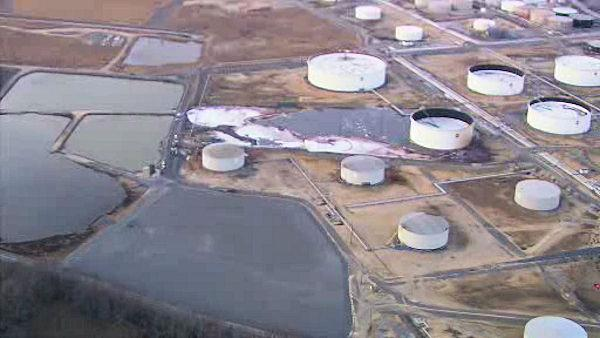 Refinery spill in Paul