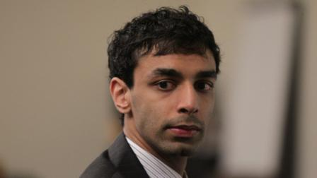 Dharun Ravi listens to testimony during his trial at the Middlesex County Courthouse in New Brunswick, N.J. on Tuesday, Feb. 28, 2012. Ravi is accused of using a webcam to spy on his roommate, Tyler Clementi, intimate encounter with another man. Days later Clementi committed suicide. Ravi, 19, faces 15 criminal charges, including invasion of privacy and bias intimidation, a hate crime punishable by up to 10 years in state prison.