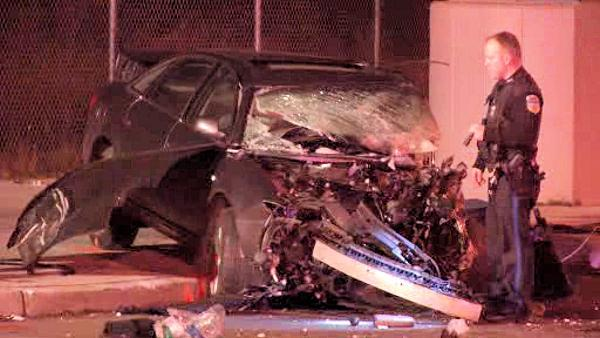 Three injured after Market Street crash in Upper Darby