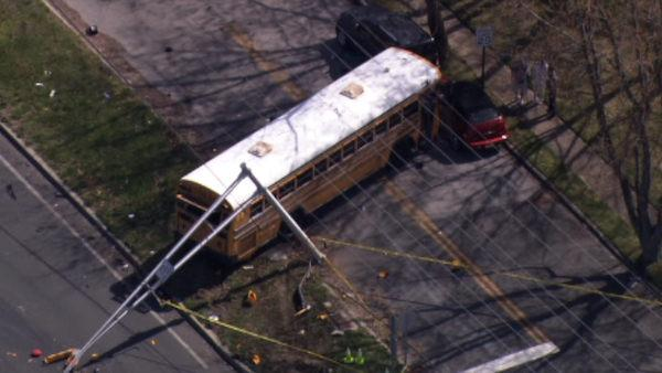 School bus crash in Toms River, N.J.