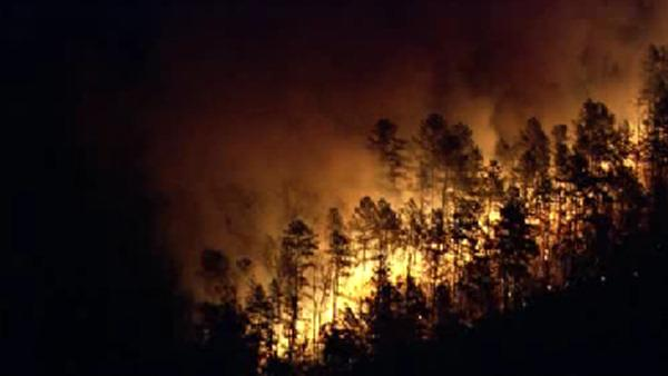 Firefighters gaining control of large NJ wildfire