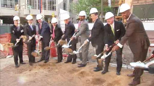 Breaking ground for new Center City hotel