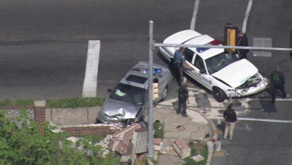 Police-involved crash in Yeadon, Pa.