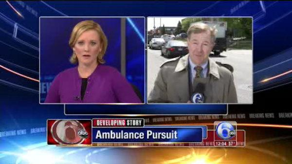Apparent firing leads to ambulance pursuit