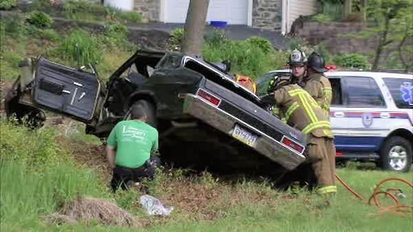 1 critical after car hits tree in Glen Mills