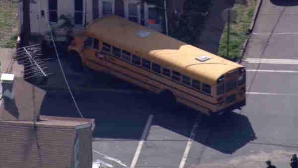 9 children hospitalized in Trenton bus crash