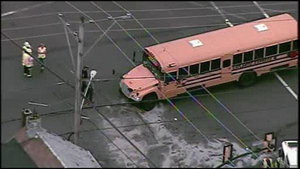 Police: School bus runs red light