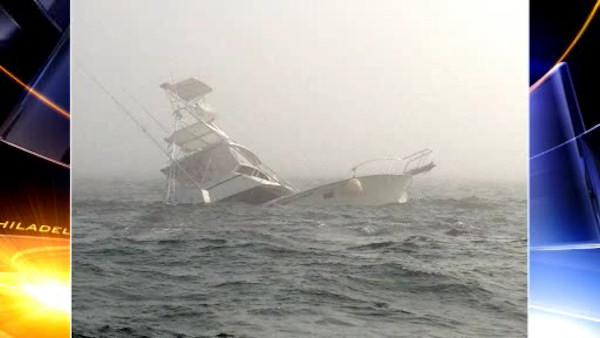 6 rescued after fishing boat sinks off NJ