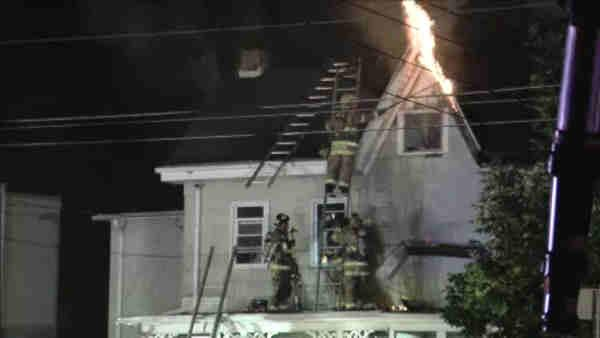 12 homeless in 'suspicious' 3-alarm fire in Burlco