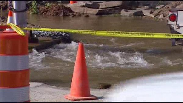 Water main break causes problems in Del.