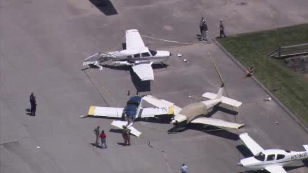 Small plane collides with 2 others at Brandywine Airport